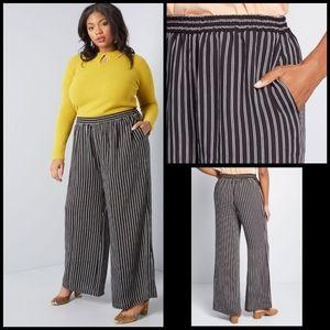 Modcloth striped wide-leg pants size 1X